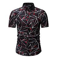 cheap -Men's Business / Basic Shirt - Geometric / Color Block Print