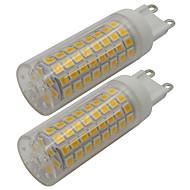 abordables Luces LED de Doble Pin-2pcs 5 W 460 lm G9 Luces LED de Doble Pin T 102 Cuentas LED SMD 2835 Blanco Cálido / Blanco Fresco 110-130 V