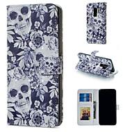 Недорогие Чехлы и кейсы для Galaxy S8-Кейс для Назначение SSamsung Galaxy S9 Plus / S9 Кошелек / Бумажник для карт / со стендом Чехол Черепа Твердый Кожа PU для S9 / S9 Plus / S8 Plus