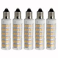 abordables Bombillas LED de Mazorca-5pcs 4.5 W 450 lm E11 Bombillas LED de Mazorca T 76 Cuentas LED SMD 2835 Regulable Blanco Cálido / Blanco Fresco 220 V