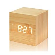 abordables Artículos para el Hogar-Reloj despertador LED / Digital Plásticos / De madera LED 6.2*6.2*6.2 pcs