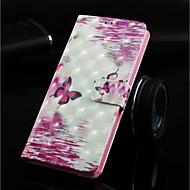 abordables Fundas / Carcasas para Galaxy Note-Funda Para Samsung Galaxy Note 9 / Nota 8 Cartera / Soporte de Coche / con Soporte Funda de Cuerpo Entero Mariposa Dura Cuero de PU para Note 9 / Note 8