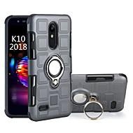 お買い得  携帯電話ケース-ケース 用途 LG K10 2018 耐衝撃 / バンカーリング バックカバー 鎧 ハード PC のために LG K10 2018 / LG K8 / Moto C plus