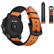 Недорогие Часы для Samsung-Ремешок для часов для Huami Amazfit Bip Younth Watch / Samsung Galaxy Watch 42 Samsung Galaxy Спортивный ремешок / Классическая застежка Натуральная кожа Повязка на запястье
