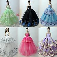 abordables Muñecas y Peluches-Princesa / Elegante / Corte Cenicienta Vestidos 6 pcs por Muñeca Barbie  Organdí Ropa para Muñecas por Chica de muñeca de juguete