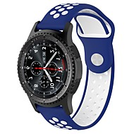 Недорогие Аксессуары для смарт-часов-Ремешок для часов для Gear S2 / Gear S2 Classic Samsung Galaxy Спортивный ремешок / Классическая застежка силиконовый Повязка на запястье