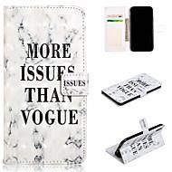 Недорогие Кейсы для iPhone 8 Plus-Кейс для Назначение Apple iPhone XS / iPhone XS Max Кошелек / Бумажник для карт / со стендом Чехол Слова / выражения / Мрамор Твердый Кожа PU для iPhone XS / iPhone XR / iPhone XS Max