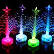זול -קישוטים לחג לשנה החדשה / קישוטי חג מולד קישוטים לחג המולד אור LED / דקורטיבי רף צבע 1pc