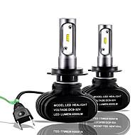 hesapli -SO.K 2pcs H7 / H4 / H3 Araba Ampul 25 W CSP 6000 lm 2 LED Sis Işıkları / Kafa Lambası Uyumluluk Tüm Yıllar