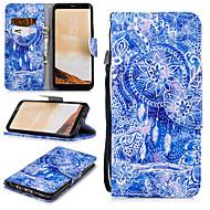 Недорогие Чехлы и кейсы для Galaxy S8 Plus-Кейс для Назначение SSamsung Galaxy S8 Plus Кошелек / Бумажник для карт / Защита от удара Чехол Ловец снов Твердый Кожа PU для S8 Plus