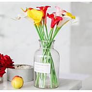 זול -פרחים מלאכותיים 10 ענף קלאסי מסוגנן / חתונה חבצלות (קלה לילי) פרחים לשולחן