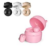billige -LITBest S-62 I øret Bluetooth Hovedtelefoner Høretelefon ABS + PC Mobiltelefon øretelefon Med Mikrofon / Med opladningsboks Headset