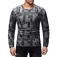 cheap -Men's Basic T-shirt - Color Block / Graphic Print