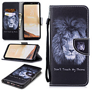 cheap -Case For Samsung Galaxy S8 Wallet / Card Holder / Shockproof Full Body Cases Lion Hard PU Leather for S8