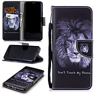 cheap -Case For Samsung Galaxy S9 Wallet / Card Holder / Shockproof Full Body Cases Lion Hard PU Leather for S9