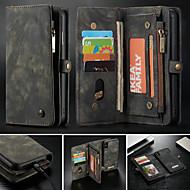 CaseMe 케이스 제품 Apple iPhone X / iPhone 8 / iPhone 8 Plus 지갑 / 카드 홀더 / 스탠드 전체 바디 케이스 솔리드 하드 PU 가죽 용 iPhone XS / iPhone XR / iPhone XS Max