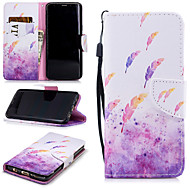 cheap -Case For Samsung Galaxy S9 Wallet / Card Holder / Shockproof Full Body Cases Feathers Hard PU Leather for S9