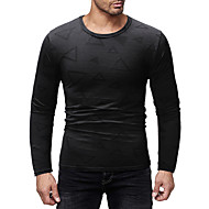 cheap -men's asian size t-shirt - geometric round neck