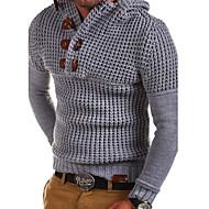cheap -Men's Daily Solid Colored Long Sleeve Regular Pullover Dark Gray / Army Green / Light gray XL / XXL / XXXL