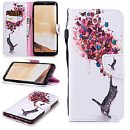 cheap -Case For Samsung Galaxy S8 Wallet / Card Holder / Shockproof Full Body Cases Cat / Butterfly Hard PU Leather for S8