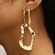 hesapli -Kadın's İki Tonlu Damla Küpeler - moda, abartma, Moda Mücevher Altın Uyumluluk Parti Gece Partisi / 1 çift