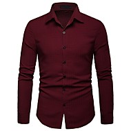 cheap -men's cotton shirt - solid colored shirt collar