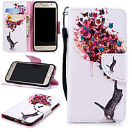 cheap Samsung Accessories-Case For Samsung Galaxy A3(2017) Wallet / Card Holder / Shockproof Full Body Cases Cat / Butterfly Hard PU Leather for A3(2017)