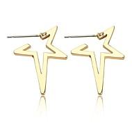billige -Dame geometrisk Stangøreringe Øreringe Tropisk Trendy overdrivelse Smykker Guld / Sort / Sølv Til Afslappet I-byen-tøj Arbejde 1 Par