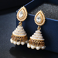 cheap -1 Pair Women's Beads Drop Earrings - Imitation Pearl Gold Plated Imitation Diamond Ethnic Jewelry White For Wedding Date Holiday