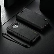 ราคาถูก -WHATIF Case สำหรับ Samsung Galaxy S7 Wallet / Card Holder / with Stand ตัวกระเป๋าเต็ม สีพื้น Hard หนัง PU สำหรับ S7