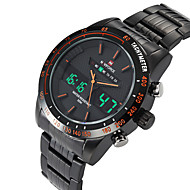 저렴한 -남성용 드레스 시계 손목 시계 디지털 시계 석영 블랙 / 실버 방수 달력 캐쥬얼 시계 아날로그-디지털 클래식 패션 - 은빛 / 화이트 오렌지 / 블랙 화이트 / 레드 / 큰 다이얼