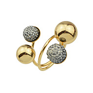 cheap -Women's Frosted Ball Statement Ring - Ball Stylish, Hip-Hop Jewelry Gold For Daily Date
