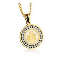 preiswerte -Herrn Damen Klassisch Anhängerketten - Edelstahl Engelsflügel Modisch Cool Gold, Silber 57 cm Modische Halsketten Schmuck 1pc Für Geschenk, Alltag