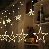 tanie -2,5 m Łańcuchy świetlne * Diody LED Dip LED Ciepła biel / Zimna biel / Czerwony Impreza / Święto / Gwiazda 220-240 V / 110-120 V 1 zestaw