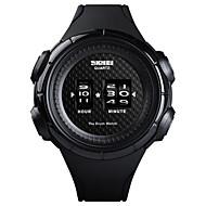 저렴한 -SKMEI 남성용 스포츠 시계 손목 시계 디지털 시계 일본어 일본 쿼츠 실리콘 블랙 50 m 방수 창조적 뉴 디자인 디지털 사치 패션 - 화이트 블랙 1 년 배터리 수명 / 큰 다이얼