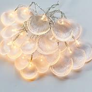 tanie -2 m Łańcuchy świetlne 20 Diody LED Ciepła biel Dekoracyjna Zasilanie bateriami AA 1 zestaw