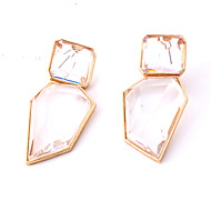 cheap -Women's Classic Drop Earrings - Resin Simple Jewelry Gold For Street 1 Pair