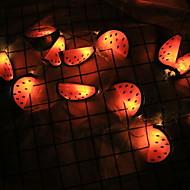 cheap -3m String Lights 20 LEDs Orange Decorative Batteries Powered 1 set