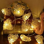 cheap -3m String Lights 20 LEDs Warm White Decorative 5 V 1 set