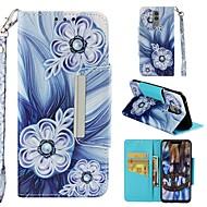 ราคาถูก -Case สำหรับ Huawei P20 lite / Huawei Mate 20 Lite Wallet / Card Holder / Shockproof ตัวกระเป๋าเต็ม ดอกไม้ Hard หนัง PU สำหรับ Huawei P20 / Huawei P20 Pro / Huawei P20 lite