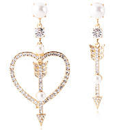 cheap -Women's Mismatch Earrings - Heart Jewelry Gold / Silver For Daily 1 Pair