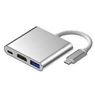 billiga -HDMI 1.4 / USB 3.0 / USB 3.0 Typ C Adapterkabel, HDMI 1.4 / USB 3.0 / USB 3.0 Typ C till USB 3.1 C Adapterkabel Kvinna man 0,15 m (0.5Ft)