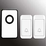 رخيصةأون -لاسلكي اثنين إلى واحد الجرس موسيقى / دينغ دونغ جرس الباب غير المرئية في السطح