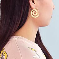 levne -Dámské Geometrické Náušnice - Kruhy - stylové Jednoduchý Šperky Zlatá / Stříbrná Pro Denní Dovolená 1 Pair