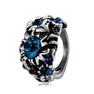 cheap -Men's Women's Blue Crystal Vintage Style Statement Ring Ring Knuckle Ring - Silver Plated, Imitation Diamond Totem Series Statement, Rock, Oversized Jewelry Dark Gray For Causal Carnival Street 6 / 7