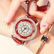 levne -Dámské Náramkové hodinky Křemenný Kůže Černá / Bílá / Modrá Voděodolné kreativita Analogové Vintage Módní - Černá Červená Modrá