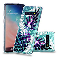 cheap -Case For Samsung Galaxy Galaxy S10 Plus / Galaxy S10 E Shockproof / Transparent / Pattern Back Cover Fruit Soft TPU for S9 / S9 Plus / S8 Plus