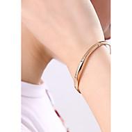 저렴한 -여성용 뱅글 티타늄 스틸 단순한 팔찌 보석류 로즈 골드 제품 선물 데이트