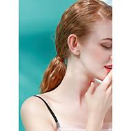 저렴한 -여성용 담수 진주 스터드 귀걸이 펄 S925 스털링 실버 귀걸이 백조 단 패션 보석류 화이트 제품 생일 선물 1 쌍