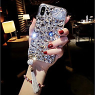 Case For Apple iPhone XS Max / iPhone 6 Rhinestone Back Cover Rhinestone Hard Acrylic for iPhone XS / iPhone XR / iPhone XS Max